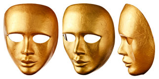 Old Venetian mask isolated on  white Stock Images