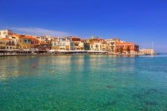 Old Venetian port of Chania on Crete Royalty Free Stock Photo