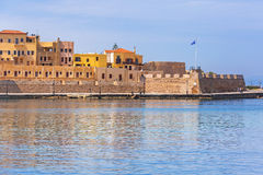 Old Venetian port of Chania on Crete Royalty Free Stock Image
