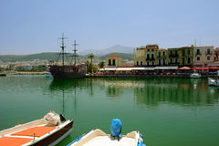 In Old Venetian Port of Rethymno Royalty Free Stock Photo