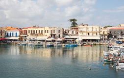 Old Venetian port of Rethymno, Crete, Greece Royalty Free Stock Photos