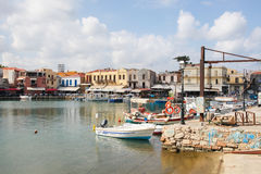 Old Venetian port of Rethymno, Crete, Greece stock image