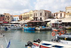 Old Venetian port of Rethymno, Crete, Greece Stock Photography