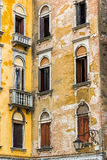 Old Venetian Wall. Detail of an old house's wall in Venice, Italy Stock Photos