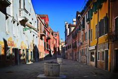 Old Venetian yard, Italy. Stock Image