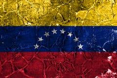 Old Venezuela grunge background flag stock illustration