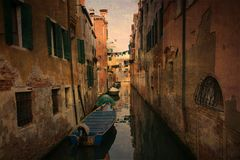Old Venice canal Royalty Free Stock Photos
