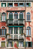 Old venice facade. Typical old venice building facade stock images