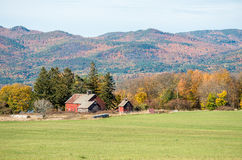 Old Vermont barns Stock Photo