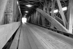 Old Vermont Wooden Covered Bridge Royalty Free Stock Photography