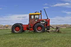 Old Versatile tractor. FIRESTEEL, SOUTH DAKOTA, June 23, 2017: The old versatile tractor is a Canadian brand of agricultural equipment that has also produced Royalty Free Stock Photography