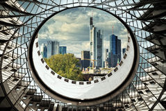 Frankfurt modern buildings versus old architecture. Stock Images
