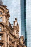 Old versus new in Frankfurt am Main, Germany royalty free stock photography
