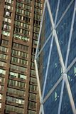 Old versus new in manhattan Stock Photography