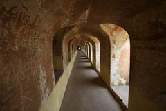 Old and very long corridor Royalty Free Stock Photography