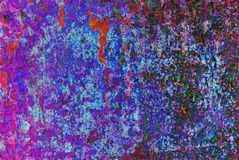 Mixed media artwork, abstract colorful artistic painted layer in blue, purple and red color palette on grunge texture. Photography background stock photos