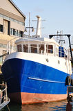 Old vessel. Old fishing ship in Jaffa port Royalty Free Stock Photo