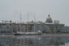 Old Vessel near St Petersburg Embankment Stock Photography