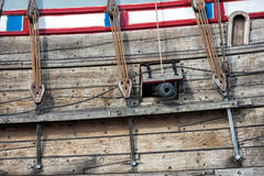 Old vessel sail ship detail Royalty Free Stock Image