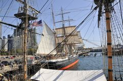 Old vessels in San Diego, California Royalty Free Stock Photos