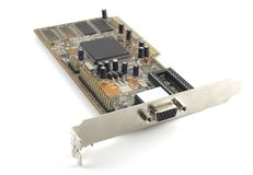 Old VGA adapter. Stock Photo