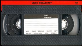 Old vhs cassette. The old vhs tape cassette royalty free stock images