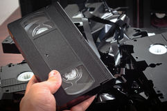 Old VHS tapes Stock Images