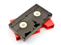 Old  vhs video cassette Stock Images