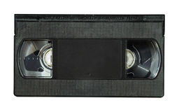 Old VHS Video Cassette. Tape isolated on white background Royalty Free Stock Images