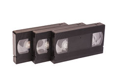 Old vhs video cassettes Royalty Free Stock Photo