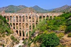 Old viaduct. In Nerja, Costa del Sol, Spain Stock Images