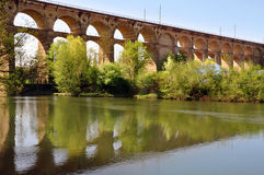 Old viaduct in Bietigheim. Royalty Free Stock Image