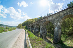 Old viaduct in Ukraine. Old viaduct in western Ukraine Ternopil region builded by austrians stock photography