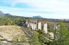 An Old Viaduct - Spectacular Railway Bridge Crossing Gorge Stock Photos