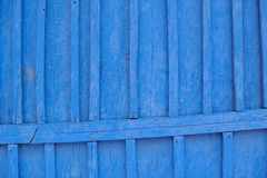 Old vibrant blue painted wooden background Royalty Free Stock Photography
