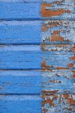 Old vibrant blue painted wooden background Royalty Free Stock Image