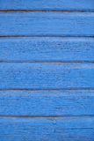 Old vibrant blue painted wooden background Stock Photo
