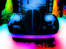 Old Vibrant Truck. An illustration of an antique truck with grunge and vibrant colors Stock Photos