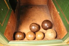Old Victorian Bowling Balls royalty free stock image