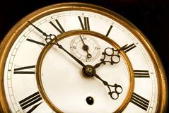 Antique Clock Face, Time ticking away Royalty Free Stock Photo