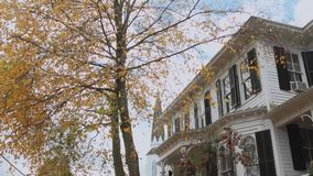 Old Victorian in downtown New Hartford (1 of 3) stock footage