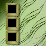 Old Victorian frames Victorian style on the wall Royalty Free Stock Image