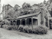 Old Victorian home. Historic weatherboard home from pioneer days in Australia royalty free stock photography