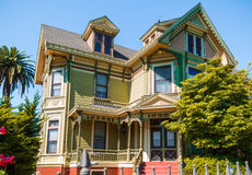 Old Victorian House. Beautiful Old Victorian House in sunny day Stock Images