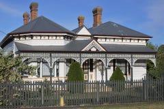 Old victorian house in Tasmania Australia. Exterior view of an old Victorian house in Devonport Tasmania, Australia royalty free stock photo