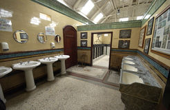 Old Victorian pottery toilets Rothesay pier Scotland Royalty Free Stock Image