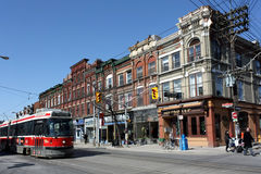 Old Victorian storefronts in Toronto Stock Photos