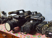 Old video camera Stock Photography