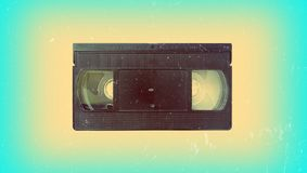 Old video cassette. Recorder vintage retro vhs 70s 80s 90s wallpaper background style fashion modern trend topical nostalgia cover shabby film Royalty Free Stock Photos