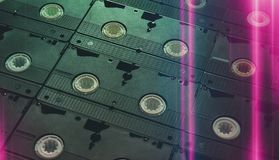 Old video cassette stock photography
